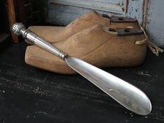 Lžíce na boty Grooves antique silver | Bella Rose
