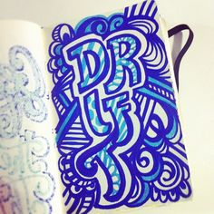 Drift! Keep on moving! #letteringdaily #lettering #doodle #type #moleskine #sharpie - @magicmaia- #webstagram