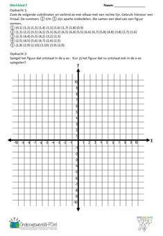 Oefenen met coördinaten GROTE download - Onderwijswereld-PO Math 5, Scouting, Om, School, Schools