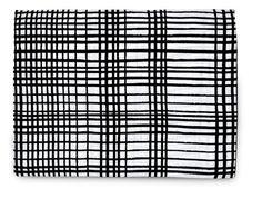 100% Organic Cotton Muslin Blanket in Black/White Grid