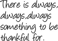 Be thankful for all things