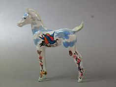 Tattooed Custom Hartland Foal Horse. $25.00, via Etsy.
