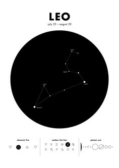 Leo – Star Constellation Art Print