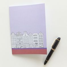 Amsterdam Notebook, pastel lilac, blank journal, A5 travel journal, unlined journal by PeonyandThistle on Etsy https://www.etsy.com/listing/93049896/amsterdam-notebook-pastel-lilac-blank