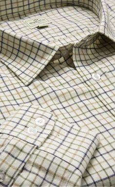 Pure Cotton Tattersall Check Shirt by Scotweb Tartan Mill