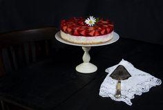 Tarta de arroz con leche y gelatina con fresas. - La Cocina de Frabisa La Cocina de Frabisa