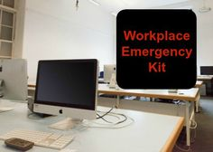 With a third of our lives spent at work, it just makes sense to assemble a small workplace emergency kit to keep on hand. Workplace, Survival, Kit, Cover, Office Workspace, Slipcovers