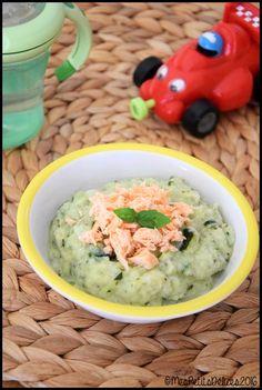 Recette bébé : Purée de courgettes à la ricotta et au saumon
