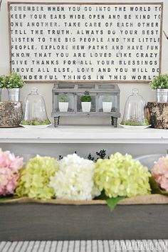 Spring Decor, Gray stain - Rustoleum driftwood & weathered gray