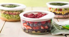 Almond-Berry Salad recipe - Packed with antioxidant-rich berries and topped with almonds for protein, this salad is a healthy choice. Add a scoop of yogurt before serving to complement the flavors and make this snack taste like dessert.