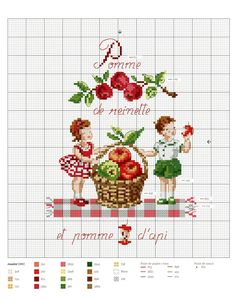 ru / Фото - Point de croix Hardcover - 2016 - Chispitas - C. Cross Stitch Fruit, Cross Stitch For Kids, Cross Stitch Kitchen, Cross Stitch Boards, Mini Cross Stitch, Vintage Cross Stitches, Counted Cross Stitch Patterns, Cross Stitch Embroidery, Cross Stitching