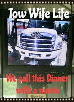 Tow wife movie night