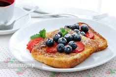 Tosty francuskie na słodko, tosty francuskie, śniadanie, chleb w jajku, Sweet French toast, French toast, breakfast, bread in the egg, http://najsmaczniejsze.pl #food #breakfast #French toast