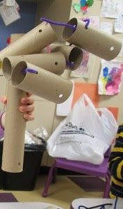 3D Art Idea--Just a Bunch of Tubes and pipecleaners :Mrs. Karen's Preschool Ideas: