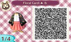 ACNL QR Code: Floral Cardigan in Black