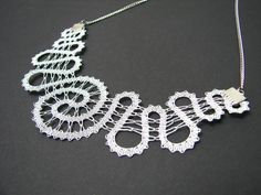 NEW | Spiral Lace Necklace || Modern Statement Lace Necklace | Handmade Bobbin Lace Jewelry