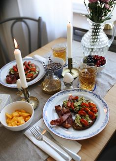 Elin Skoglund Food N, Food And Drink, Fika, Romantic Dinners, Breakfast Time, Food Presentation, Yummy Drinks, Bon Appetit, Food Inspiration