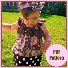 Girls Dress Pattern PDF Sewing Pattern The by pinkpoodlebows