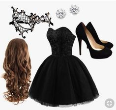 Masquerade party, kenneth jay lane, homecoming, fashion looks, formal dress Bad Girl Outfits, Party Outfits For Women, Edgy Outfits, Pretty Outfits, Pretty Dresses, Beautiful Dresses, Fashion Outfits, Steampunk Fashion, Gothic Fashion