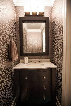 1000 images about formal half bathroom on pinterest - Half bath remodel ideas ...