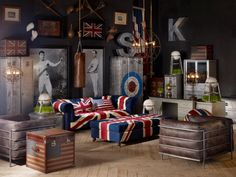 Sports room - Timothy Oulton http://www.timothyoulton.com/usa/en/products/themes/sports-club/sports-room.html
