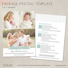 Photography Pricing Guide Package List - Marketing Board MP002 - Photoshop…