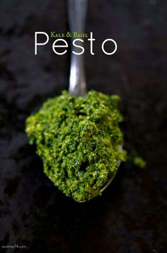 Kale & Pesto Basil, sounds like such an interesting twist on pesto.  I'd use pine nuts though not walnuts.