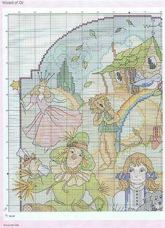 Cross-stitch Wizard of Oz, part 4...  color chart on part 5...    Gallery.ru / Фото #13 - Cross stitch gold №92 2012 - 19Edinorog87