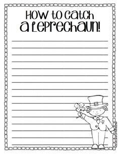 Catch a Leprechaun {a Writing Craftivity}