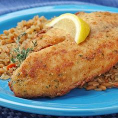 Baked Breaded Tilapia Recipe | Spoonful- for that tilapia that has been lurking in the freezer.