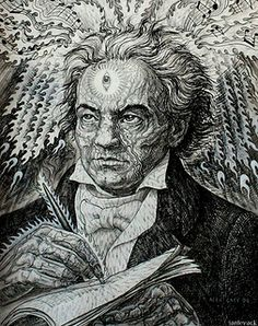 Alex Grey - Ludwig van Beethoven. Would be a perfect print for the studio.