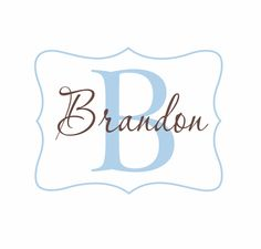 Name and Initial Vinyl Wall Decal Personalized Monogram Wall Decal Boy Girl Baby Nursery Room Wall Art 22Hx28W FS168. $39.00, via Etsy.