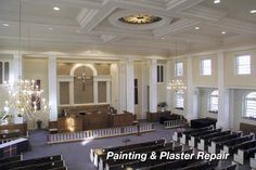 church interior design ideas remodeling sanctuary pew restoration