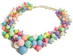 KOLIA BLOGEREK BIG PERŁY PASTELE EdiBazzar Divas, Beaded Necklace, Jewelry, Fashion, Beaded Collar, Moda, Jewlery, Pearl Necklace, Jewerly