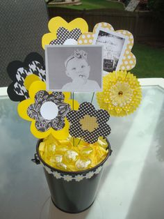Bee Party- close up of one of the centerpieces eb