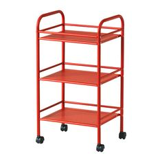 DRAGGAN Cart - red - IKEA