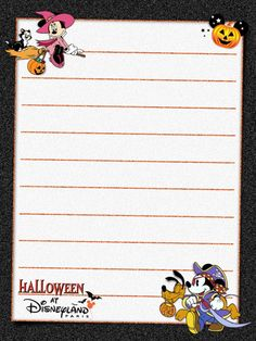 "Hallowe'en at Disneyland Paris -  Project Life Journal Card - Scrapbooking. ~~~~~~~~~ Size: 3x4"" @ 300 dpi. This card is **Personal use only - NOT for sale/resale** Logos/clipart belong to Disney. Font is Waltograph http://www.dafont.com/walt-disney.font  ***Click through to photobucket for more versions of this card :) ***"