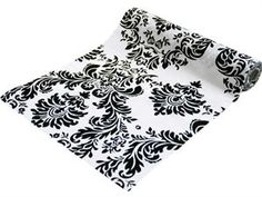 Yards Dual Tone Taffeta Flocking Damask Bolt For Wedding Party Drape Decoration - Black/White - ChairCoverFactory Chair Sashes, Royal Design, Crafts Beautiful, Silky Touch, Ceiling Decor, Different Light, Tulle Fabric, Chair Covers, Fabric Decor