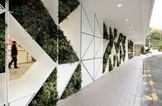 50 Green wall Design Inspiration is a part of our collection for design inspiration series.Green wall Design Inspiration is an inspirational series Design Hotel, Green Architecture, Architecture Design, Green Facade, Green Office, Interior And Exterior, Interior Design, Hotel Restaurant, Wall Cladding