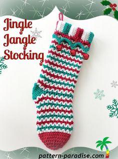 (4) Name: 'Crocheting : Jingle Jangle Stocking PDF14-160
