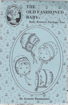 The Old Fashioned Baby Bonnets Pattern by anniesshoppe on Etsy, $4.75