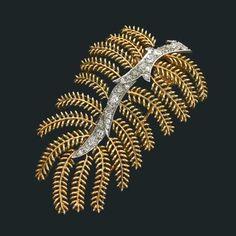 Fern Leaf Brooch by Suzanne Belperron (1900-1983), in diamond, platinum and gold. http://www.belperron.com