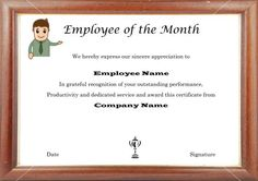 Employee Of The Month 13x27 Frame To Hold Monthly Photos