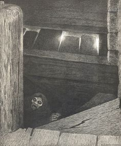 Theodor Kittelsen - The plague on the stairs, 1896, via Flickr.
