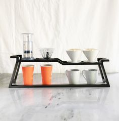 "In order to efficiently craft premium coffees using pour-over methods and Aeropress, our industrial designer / coffee connoisseur designed and hand crafted this ""AP1"" coffee station. Coffee fans of today are sophisticated than ever before. Interests in individually crafted specialty"