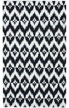 Kinda like this rug - chevron stripe meets ikat.
