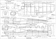 Emeraude Plans from April 1969 American Aircraft Modeler - Airplanes and Rockets
