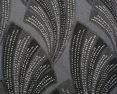 Art deco inspired Novella Wallpaper (in Black) by Graham & Brown