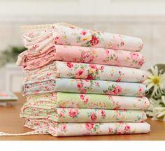 Fat Quarter shabby cotton bundle 7ea 32799 by cottonholic on Etsy