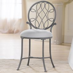12 Funky Bathroom Chair Ideas Gray Polished Wrought Iron Vanity Chair With Rounded White regarding 12 Funky Bathroom Chair Ideas Bathroom Vanity Chair, Bathroom Furniture, Vanity Bench, Vanity Chairs, Teak Bathroom, Bathroom Gray, Furniture Vanity, Bathroom Vanities, Master Bathroom